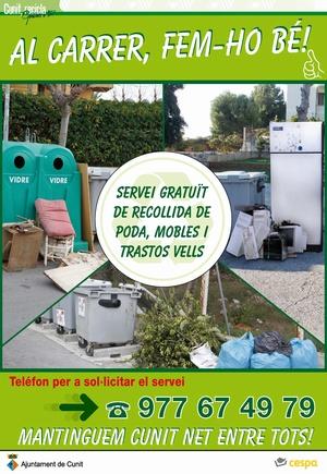 Linia verda ayuntamiento de cunit consultas medioambientales para empresas y ciudadanos - Recogida de muebles ayuntamiento de madrid ...