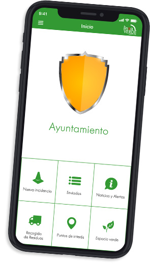 Móvil con app Línea Verde